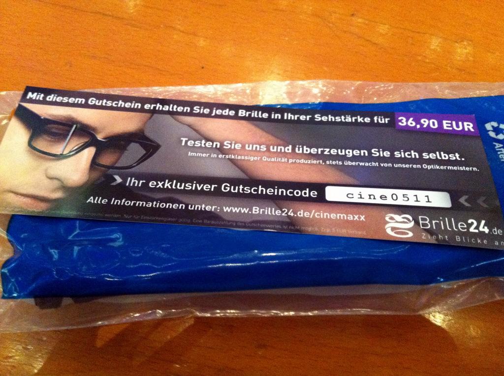 Werbung an der 3D-Brille